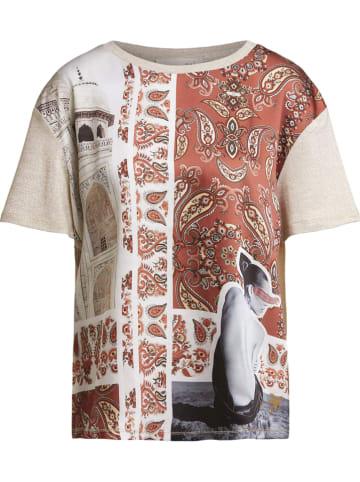 Oui Shirt in Beige/ Bunt