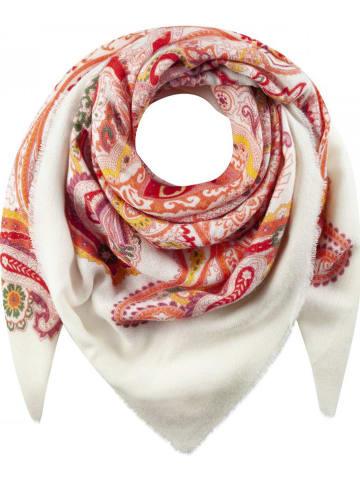 Codello Tuch in Weiß/ Rot/ Orange - (L)120 x (B)120 cm