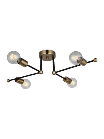 Homemania Lampa wisząca w kolorze czarno-złotym - (S)70 x (G)49 cm