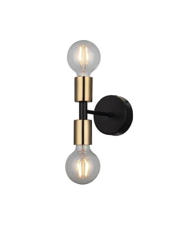 Homemania Lampa ścienna w kolorze czarno-złotym - (S)10 x (W)18 cm