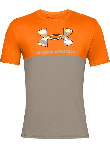 """Under Armour Shirt """"Camo"""" oranje/grijs"""