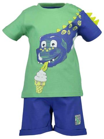Blue Seven 2-delige outfit groen/blauw