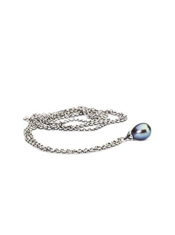 Trollbeads Srebrny naszyjnik z perłą - (D)80 cm