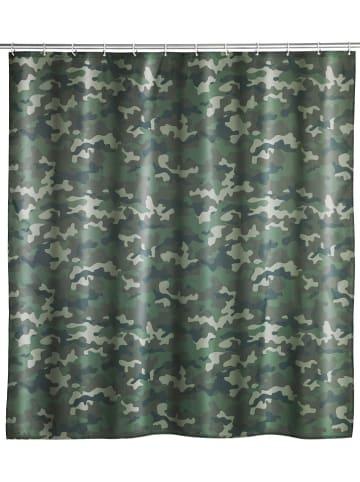 """Wenko Douchegordijn """"Camouflage"""" groen - (L)200 x (B)180 cm"""