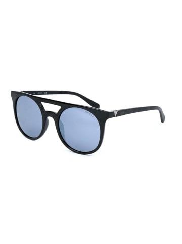 Guess Męskie okulary przeciwsłoneczne w kolorze czarnym