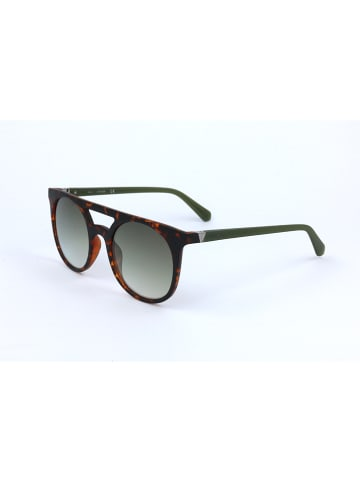 Guess Męskie okulary przeciwsłoneczne w kolorze ciemnobrązowym