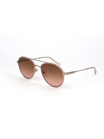 Liu Jo Damskie okulary przeciwsłoneczne w kolorze różowozłotym
