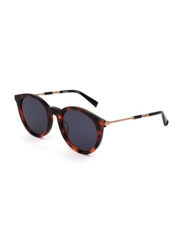 Max Mara Damskie okulary przeciwsłoneczne w kolorze brązowo-czerwono-granatowym