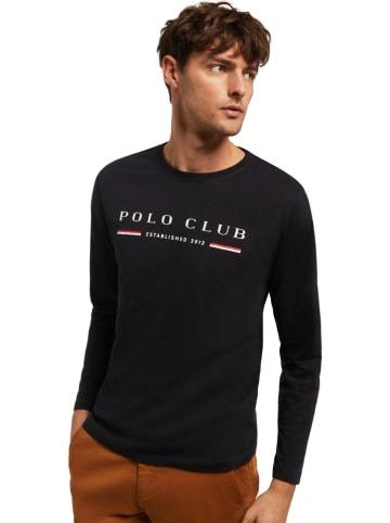 Polo Club Longsleeve in Dunkelblau