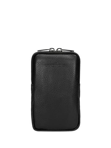 Wojas Skórzana torebka w kolorze czarnym na smartfona