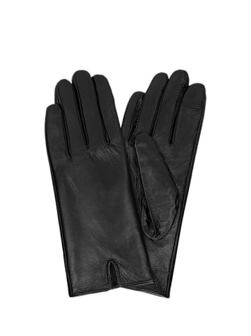 Wojas Skórzane rękawiczki w kolorze czarnym