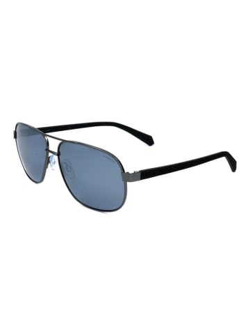 Polaroid Herren-Sonnenbrille in Schwarz/ Dunkelblau
