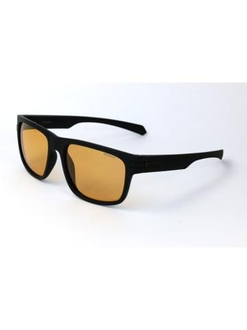 Polaroid Męskie okulary przeciwsłoneczne w kolorze czarno-żółtym