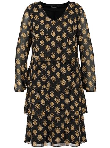 SAMOON Sukienka w kolorze czarno-żółtym