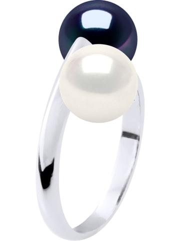 Pearline Weißgold-Ring mit Perlen