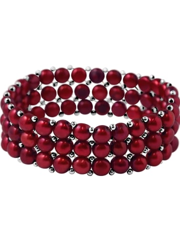 Pearline Perlen-Armband in Rot
