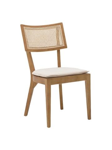 InArt Krzesło w kolorze brązowo-kremowym - (S)47 x (W)88 x (G)43 cm