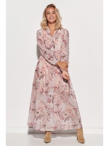 Makadamia Sukienka w kolorze jasnoróżowym ze wzorem