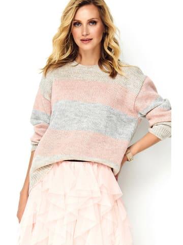 Makadamia Sweter w kolorze szaro-różowym