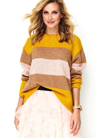 Makadamia Sweter w kolorze musztardowo-brązowym