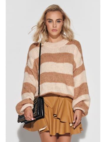 Makadamia Sweter w kolorze beżowo-karmelowym
