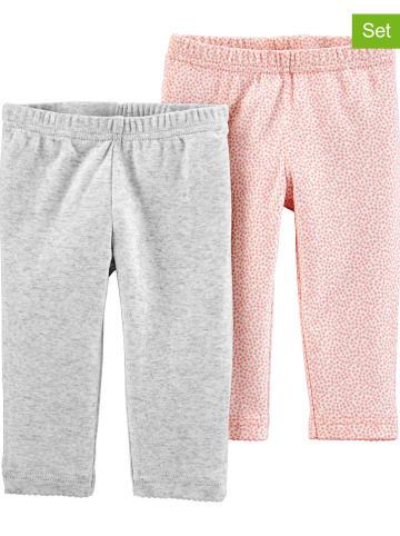 Carter's Spodnie (2 szt.) w kolorze jasnoróżowym i szarym