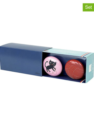 Vilac 2-delige set : wandhaken rood/lichtroze - Ø 7 cm
