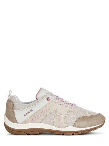 """Geox Leren sneakers """"Kander"""" beige"""