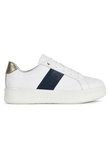 """Geox Leren sneakers """"Nhenbus"""" wit"""