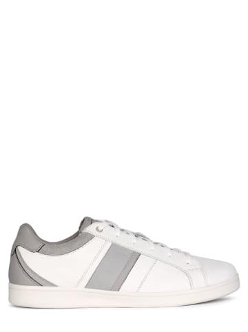 """Geox Leren sneakers """"Warrens"""" wit"""