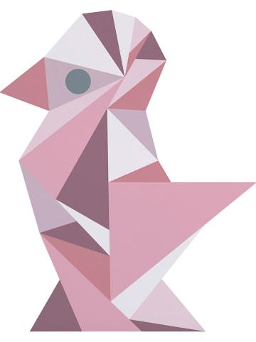"""Sebra Wandsticker """"Vogel"""" lichtroze"""