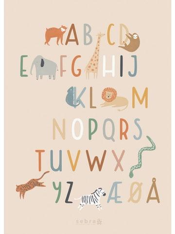 "Sebra Kunstdruk ""Alfabet"" - (L)70 x (B)50 cm"