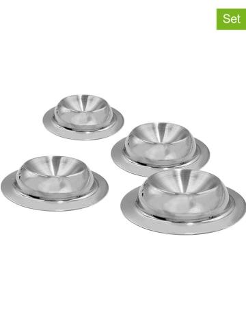 Steel-Function 4-delige set: roestrvrijstalen eierdoppen - Ø 8,6 cm