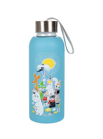 Moomin Butelka termiczna w kolorze niebieskim ze wzorem - 450 ml