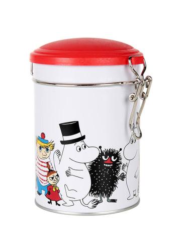 Moomin Pojemnik w kolorze biało-czerwonym na herbatę - (W)13 x Ø 11 cm