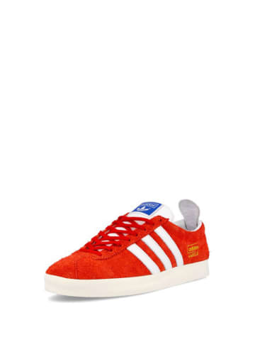 Adidas Skórzane sneakersy w kolorze czerwonym