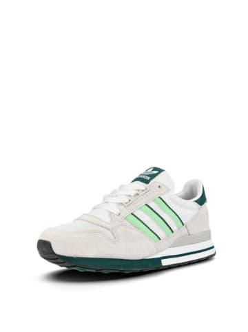 Adidas Sneakersy w kolorze beżowo-zielono-białym