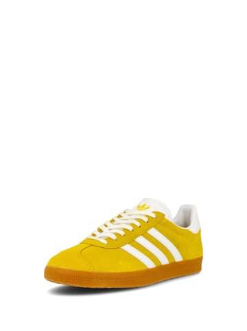Adidas Skórzane sneakersy w kolorze żółtym