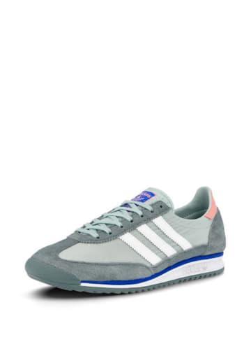 Adidas Sneakersy w kolorze granatowo-zielono-białym