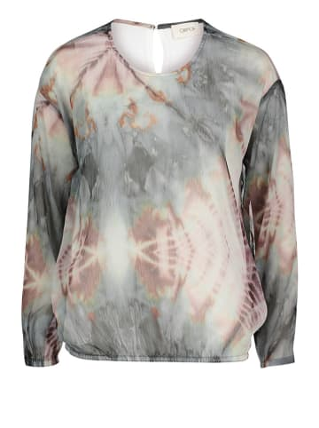 CARTOON Bluse in Grau/ Creme