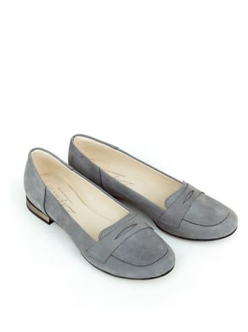 Zapato Leren instappers grijs