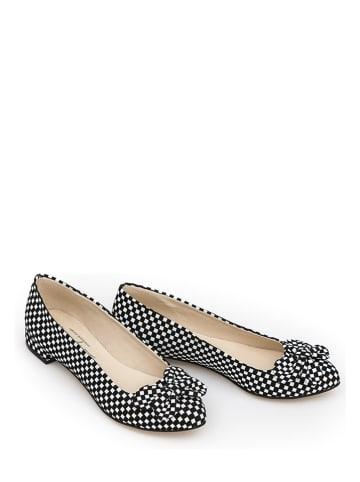 Zapato Leren instappers zwart/wit