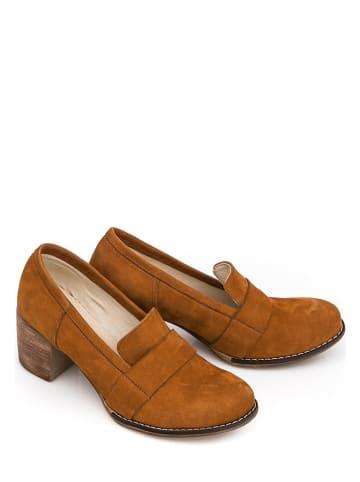 Zapato Leren pumps bruin