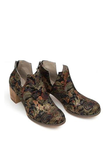 Zapato Leren enkelboots goudkleurig/meerkleurig