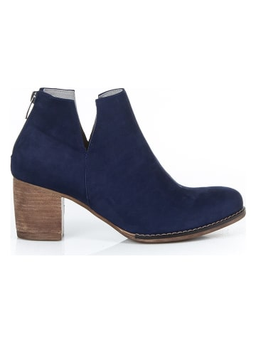 Zapato Leder-Ankle-Boots in Dunkelblau