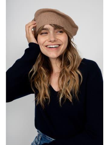 """Perfect Cashmere Kaszmirowa czapka beanie """"Paris"""" w kolorze karmelowym"""