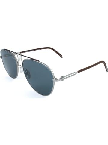 Calvin Klein Herren-Sonnenbrille in Silber-Braun/ Blau