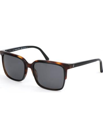 Calvin Klein Herren-Sonnenbrille in Braun/ Grau