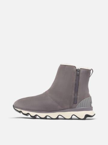 """Sorel Leder-Winterboots """"Kinetic"""" in Grau"""