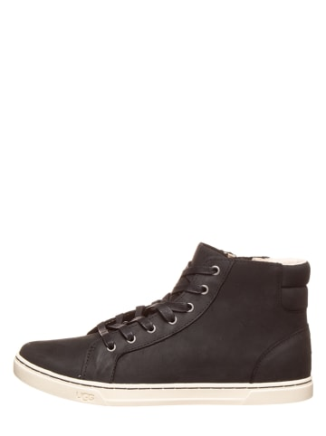 UGG Leder-Sneakers in Schwarz